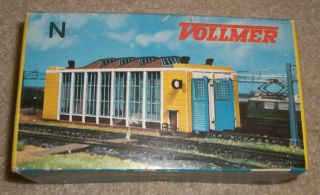 Scale Vollmer Engine House Kit Completed