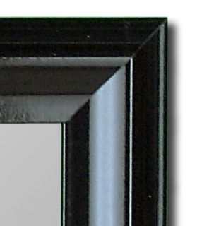 Glossy Black Petite Wall Mirror Art Decor Hitchcock Butterfield