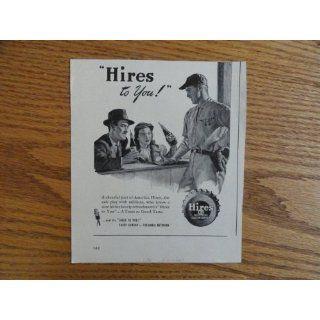 Hires Root Beer.1947 Print Ad. (baseball player/man/woman
