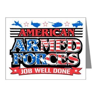 Note Cards (10 Pack) American Armed Forces Army Navy Air