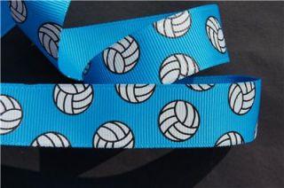 10yd Volleyball 7 8 Vivid Blue Grosgrain Ribbon Craft