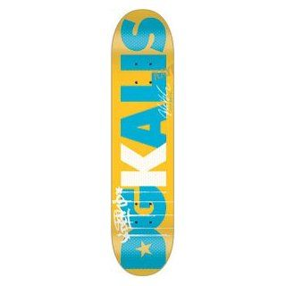 DGK Kalis Dgkalis Yellow Skateboard Deck   8.06: Sports