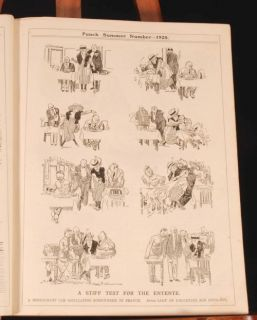 1920 25 3 Vols Punch Humour Cartoons Illustrated