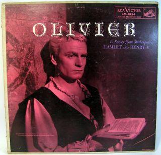 Olivier Hamlet Henry V Scenes Shakespeare RCA LM 1924