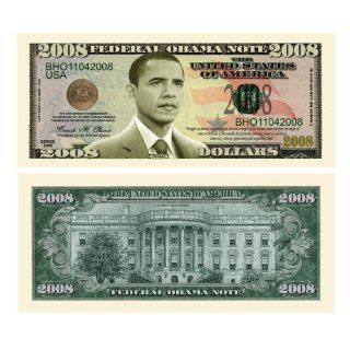OF 25 BILLS Barack Obama 44 Dollar Novelty Bill Money: Toys & Games