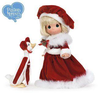 Precious Moments Blonde Goose Girl Vinyl Doll Wearing