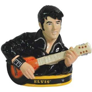 10.25 Inch Elvis Presley Wearing Black & Playing Guitar