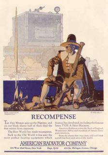 Herbert Paus Artwork in 1922 American Radiator Company Advertisement