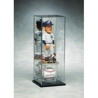 Mirrored Back Large Bobble Head Display Case with Baseball
