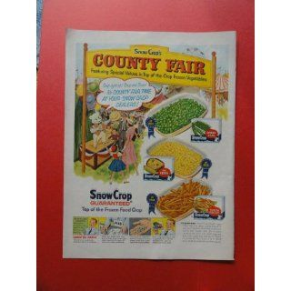 Snowcrop frozen foods, 1957 print ad (county fair