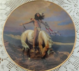 Hermon Adams Spirit of The Skies Franklin Mint Native American