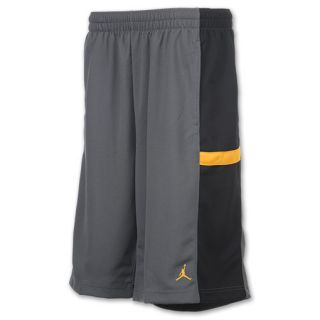 Mens Jordan Bankroll Shorts Dark Grey/Black/Gold