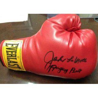Jake LaMotta Hand Signed Full Size Everlast Boxing Glove