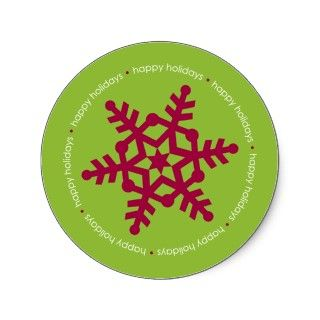 Candy Cane Stripes Address Label   Revised Round Sticker