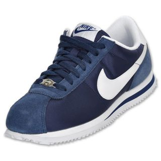 Nike Mens Cortez Nylon Casual Shoe Navy/White