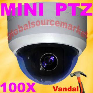 samsung CCD PTZ 540TVL SmartDome day night High speed 100x Zoom Camera