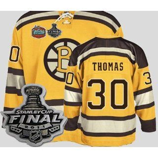 Kids 2011 NHL Stanley Cup Boston Bruins 30# Thomas Winter