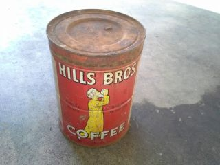 VINTAGE HILLS BROS COFFEE TIN,A BLAST FROMTHE PAST! COOL AND 6 OUT OF