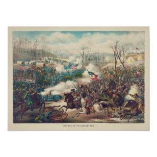 The American Civil War Battle of Pea Ridge 1862 Poster