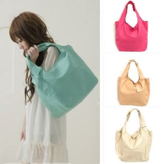 Korean Style Womens Lady Hobo PU Leather Handbag Shoulder Bag Large
