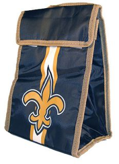 New Orleans Saints Velcro Close Lunch Bag Box Lunchbox