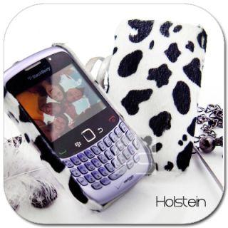 Holstein Velvet Hard Skin Case Cover For Blackberry 8520 8530 Curve 3G