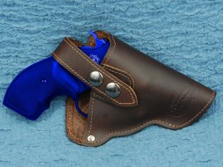 Barsony BROWN Leather Gun Holster RUGER LCR 38 357 Revolver with