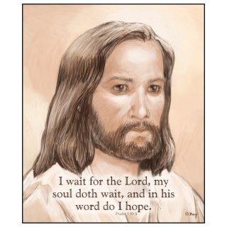 Sepia Jesus Art Bible Quote   Psalm 130:5 Photo Cut Out