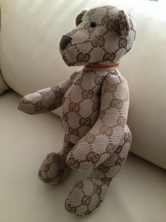 Authentic Gucci Monogram Stuffed Teddy Bear Limited Edition Classic