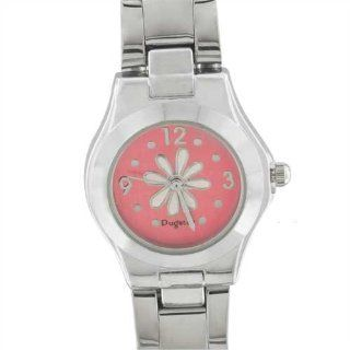 Pugster Womens Pink Flower Watch Gift Fashion Jewelry