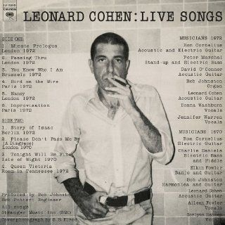 Live Songs [Vinyl] Leonard Cohen Music