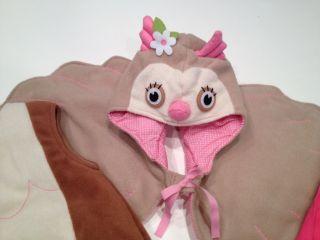 Pottery Barn Kids PBK Girls OWL Halloween Costume Size 4 5 6 w/ Treat