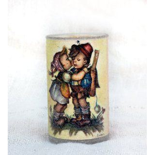 Vintage Hummel Sugar Frosted Candle Girl Kissing Boy Never
