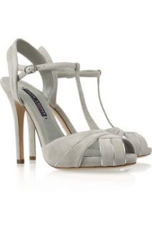 Ralph Lauren Collection Jalie suede T bar sandals