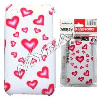 Red Love Hearts Sparkle Design Back Snap On Cover Hard