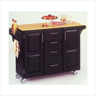 Home Styles Furniture Kitchen Cart in Black [55165]