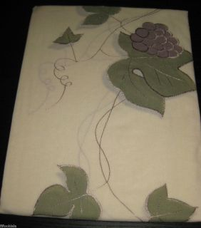 New Home Styles Tiers Pair Curtains 60x36 Kitchen Ecru Sage Green