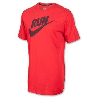 Mens Nike Run Swoosh Running T Shirt Pimento