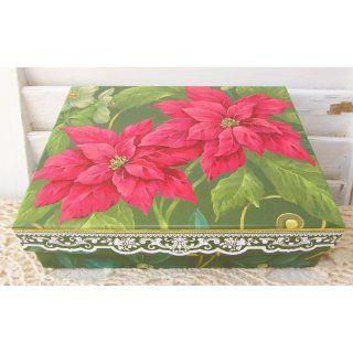 Carol Wilson Poinsettia Jewel Blank Note Cards 15 ct In