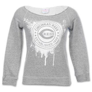 MLB Cincinnati Reds Scoop Neck Womens Sweatshirt