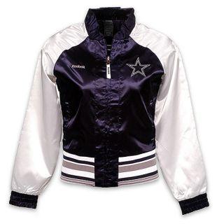 Reebok Womens Dallas Cowboys Reversible Satin Jacket