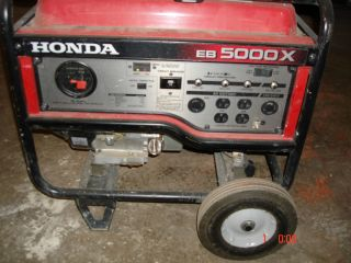 Used Honda EB5000 5000 Watt Generator with Wheel Kit