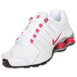Girls Gradeschool Nike Shox NZ White/Cherry/Met
