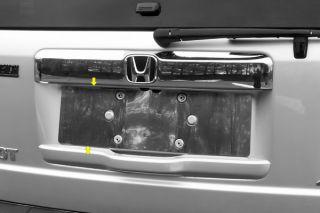 09 13 Honda Pilot License Plate Mirror Polished SS Truck SUV Chrome