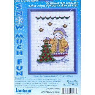 Christmas Tree Snowlady (Janlynn Cross Stitch Kit #41 127