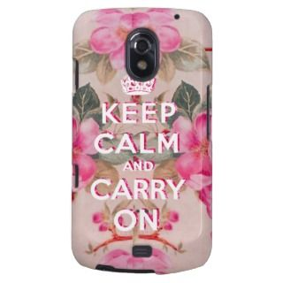 Girly keep calm..Vintage pink elegant floral roses Samsung Galaxy