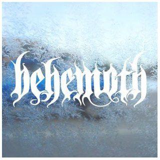 Behemoth White Decal Window Laptop Vinyl White Sticker