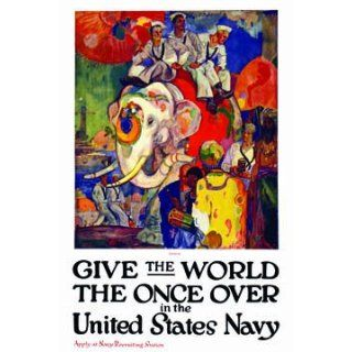 Give the world the once over in the United States Navy