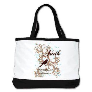 Shoulder Bag Purse (2 Sided) Black Faith Dove   Christian