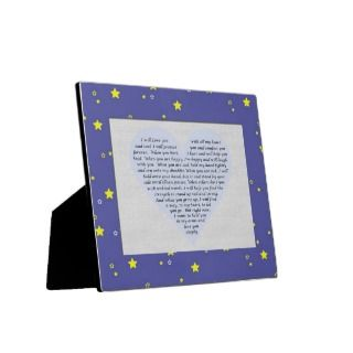 Love Poem Baby Boy Gift Baptism Christening Photo Plaques